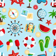 Holiday vacation seamless pattern