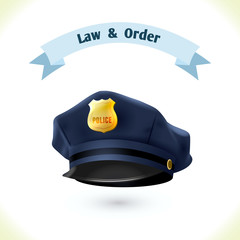 Law icon police hat