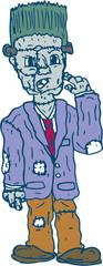 Frankenstein Monster Standing Cartoon