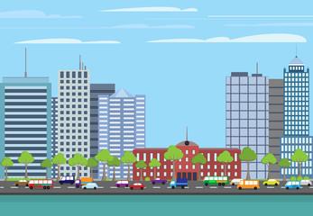 Modern buildings cityscape