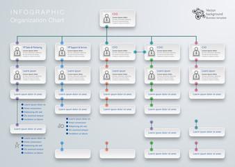 Infographics Vector Background #Organization Chart
