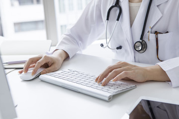 Physician input to the PC diagnostic results