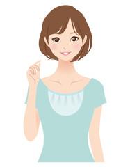 女性 表情 主婦