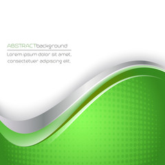 Abstract vector green background with halftone effect