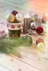 Frohe Weihnachten Hintergrund mit Stiefel