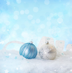 Winter Background white blue