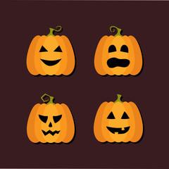 Four Halloween flat icons