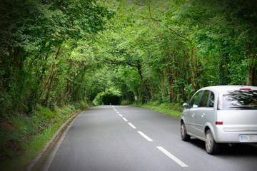 Car on nice road