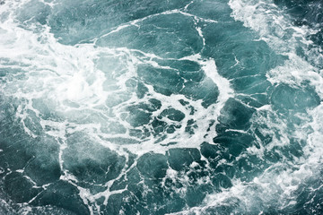 Messy water wave texture.