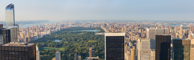 Aerial View of Central Park and Upper Town, New York