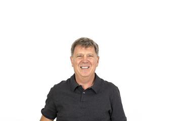 friendly smiling man