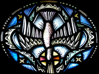 Wall Mural - The Holy Spirit (Dove) ins stained glass