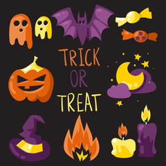 Trick or treat elements set