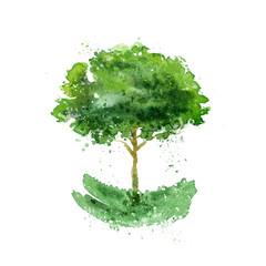 Tree. Vector format