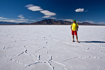 Summer vacation on USA - Bonneville salt flats