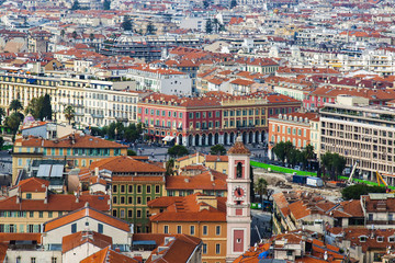 Nice, France. A view of the city from a high point.