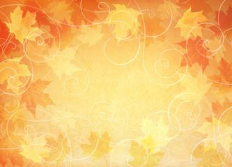Falling leaf background