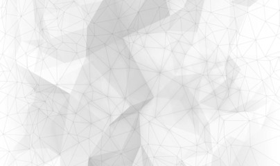 Abstract white digital 3d polygonal surface background texture