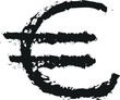 symbol currency euro doodle charcoal