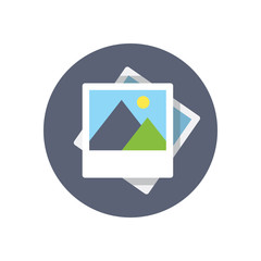 Flat modern vector icon: picture.