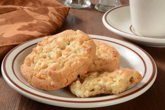 Gourmet macadamia nut cookies