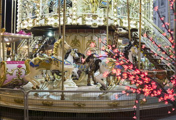 Foto op Canvas Marokko Christmas Carousel