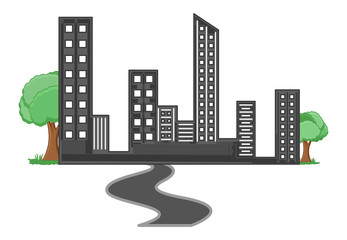 Society - Real Estate Concept - Vector Illustration