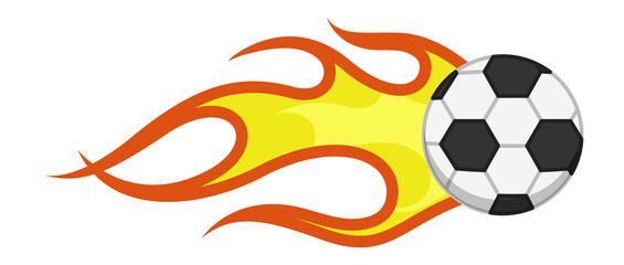 Cartoon Vector - Burning Flame Football