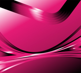 Pink wave abstract background vector