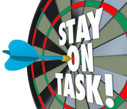 Stay on Task 3d Words Dart Board Complete Job