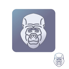 Gorilla head icon