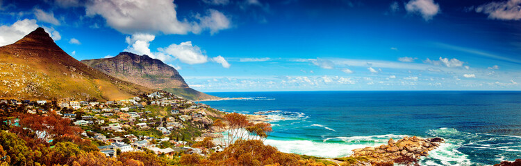 Fotobehang Zuid Afrika Cape Town city panoramic image