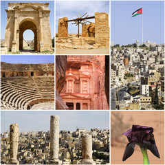 Landmark of Jordan with tourist highlights