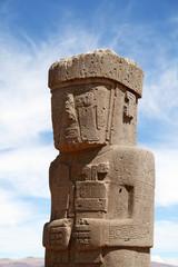 Stone Man in Tiwanaku (Tiahuanaco) Bolivia