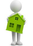 3d m nnchen eigenheim finanzielle belastung stockfotos und lizenzfreie bilder auf. Black Bedroom Furniture Sets. Home Design Ideas
