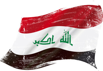 Iraqi grunge flag