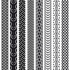 Collection bicycle tire tracks, seamless texture