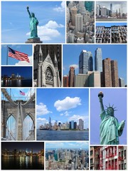 New York - travel photo collage set