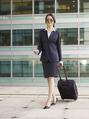 asian business traveler