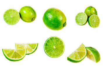 Set of limes images