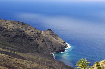 The Arguamul coastline  view, La Gomera, Canary Island, Spain