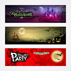 Happy Halloween collections banner design