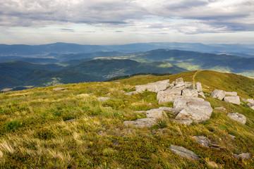 stones on top of the mountain range