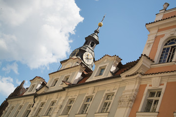 Prague old town buildings