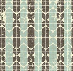 Colorful worn geometric seamless pattern, vector decorative back