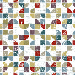 Vector geometric textile abstract seamless pattern, spotted tatt