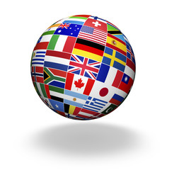 World Flags International Globe