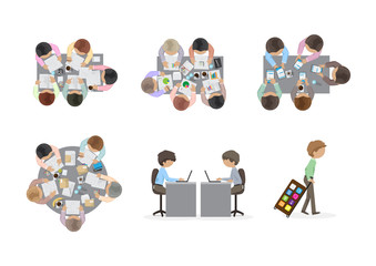 Business People, Flat Illustrations, Office Workers