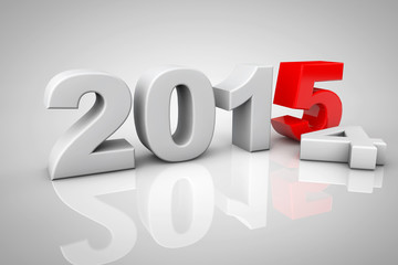 New Year 2015 3d Sign