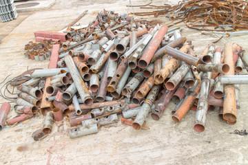 Pile of metal scrap,steel scrap